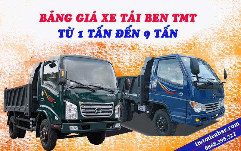 giá xe tải ben tmt